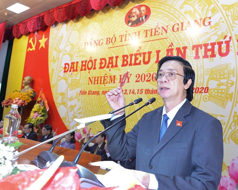 Ông Nguyễn Văn Danh tái đắc cử Bí thư Tỉnh uỷ Tiền Giang