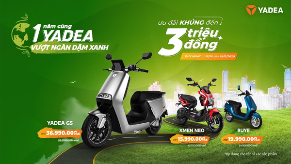 Loạt ưu đãi dành cho khách mua xe máy điện Yadea
