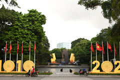 Ly Thai To flower garden bears Thang Long - Hanoi's imprint