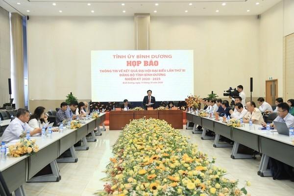 Bình Dương: Công bố kết quả nhân sự Đại hội Đảng bộ khóa XI
