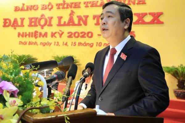 Ông Ngô Đông Hải tái cử Bí thư Tỉnh ủy Thái Bình