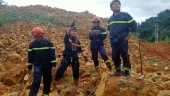Landslide disaster: Rescue workers search for 17 in debris in central Vietnam