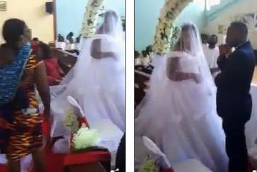 Người vợ địu con vào 'đại náo' đám cưới của chồng