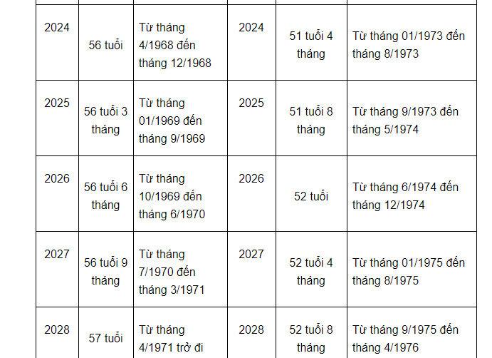 Tra cứu tuổi nghỉ hưu từ 2021 dành cho người lao động