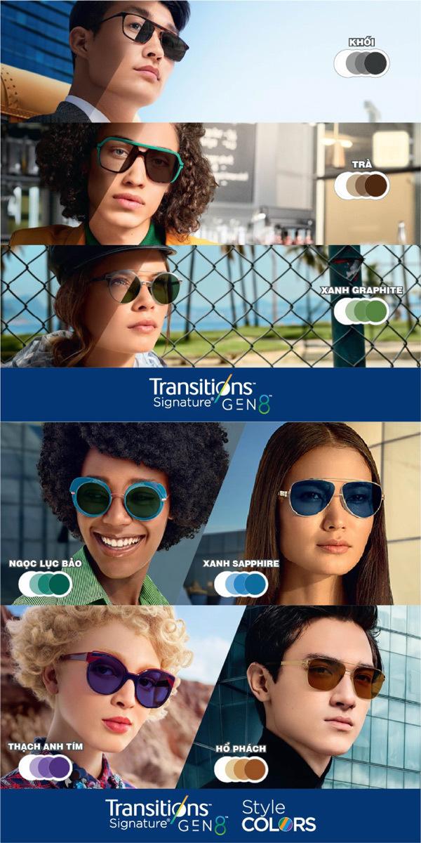 Sắm kính đổi màu Essilor thế hệ mới, rinh túi thời trang sành điệu