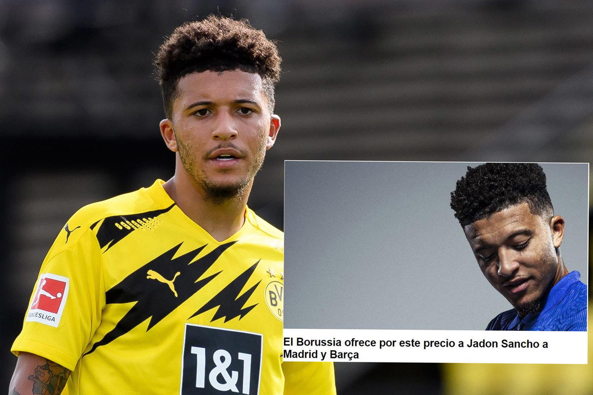 Dortmund báo giá Jadon Sancho cho Barca và Real