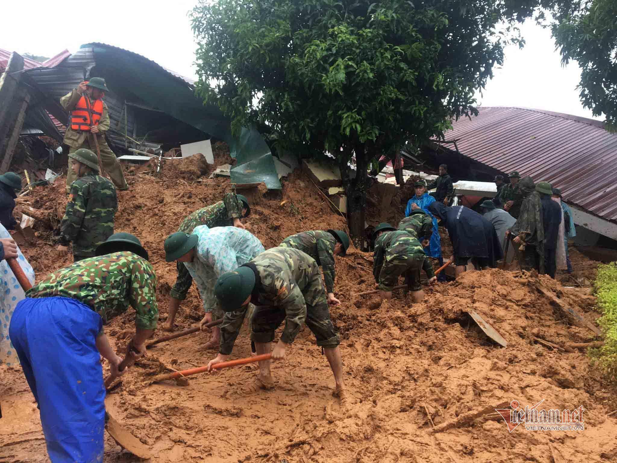 Danh sách 22 cán bộ, chiến sỹ bị núi lở vùi lấp tại Quảng Trị