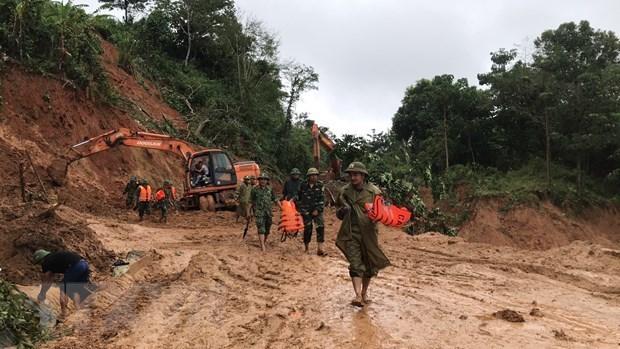 Quang Tri: 22 soldiers missing in landslide