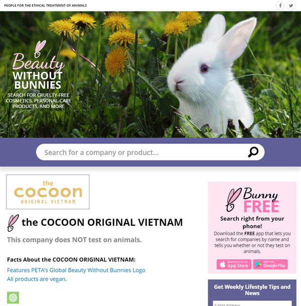 Cocoon - tiên phong xu hướng mỹ phẩm thuần chay ở Việt Nam