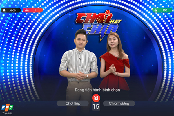 'Chơi hay chia' - trò chơi tương tác mới trên Truyền hình FPT