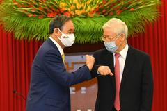 Tổng Bí thư, Chủ tịch nước Nguyễn Phú Trọng tiếp Thủ tướng Nhật Bản