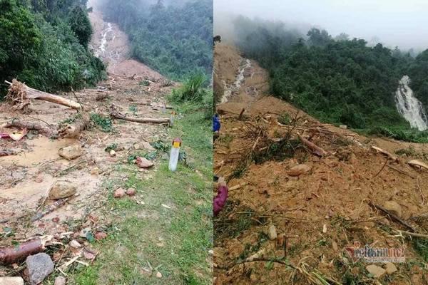 Lở núi, trạm bảo vệ rừng ở Quảng Bình bị san phẳng