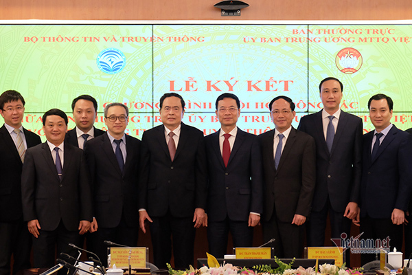 The Ministry of Information and Communications cooperates with the Vietnam Fatherland Front on digital transformation