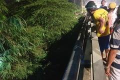Thi thể 2 thanh niên đội mũ bảo hiểm dưới chân cầu ở Bình Dương