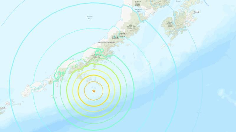 Động đất 7,5 độ Richter ngoài khơi Alaska, gây cảnh báo sóng thần