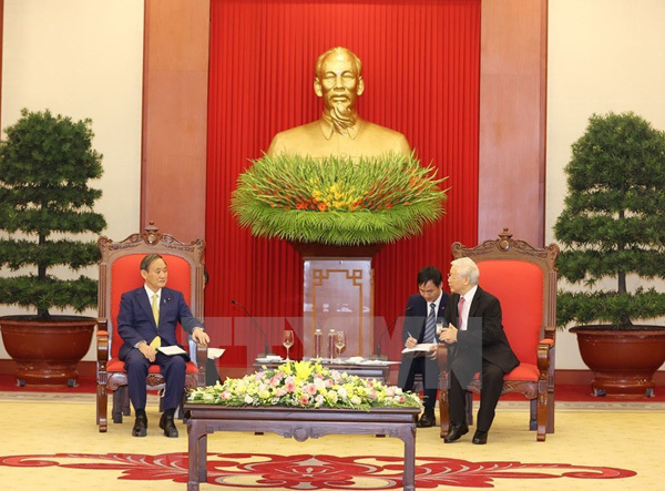 Party, State leader receives Japanese Prime Minister