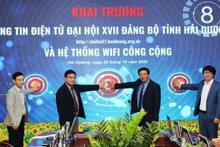 Hải Dương khai trương trang tin Đại hội XVII Đảng bộ, lắp wifi miễn phí các điểm công cộng