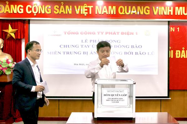 EVNGenco 1 quyên góp 500 triệu hỗ trợ đồng bào miền Trung