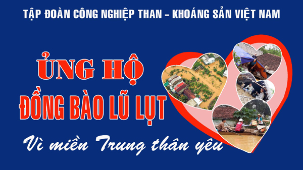 Tập đoàn TKV ủng hộ 5 tỷ đồng giúp đồng bào vùng lũ miền Trung