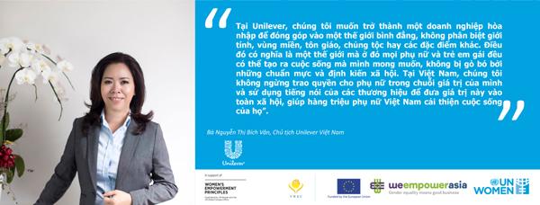 Unilever Việt Namthúc đẩy trao quyền cho phụ nữ