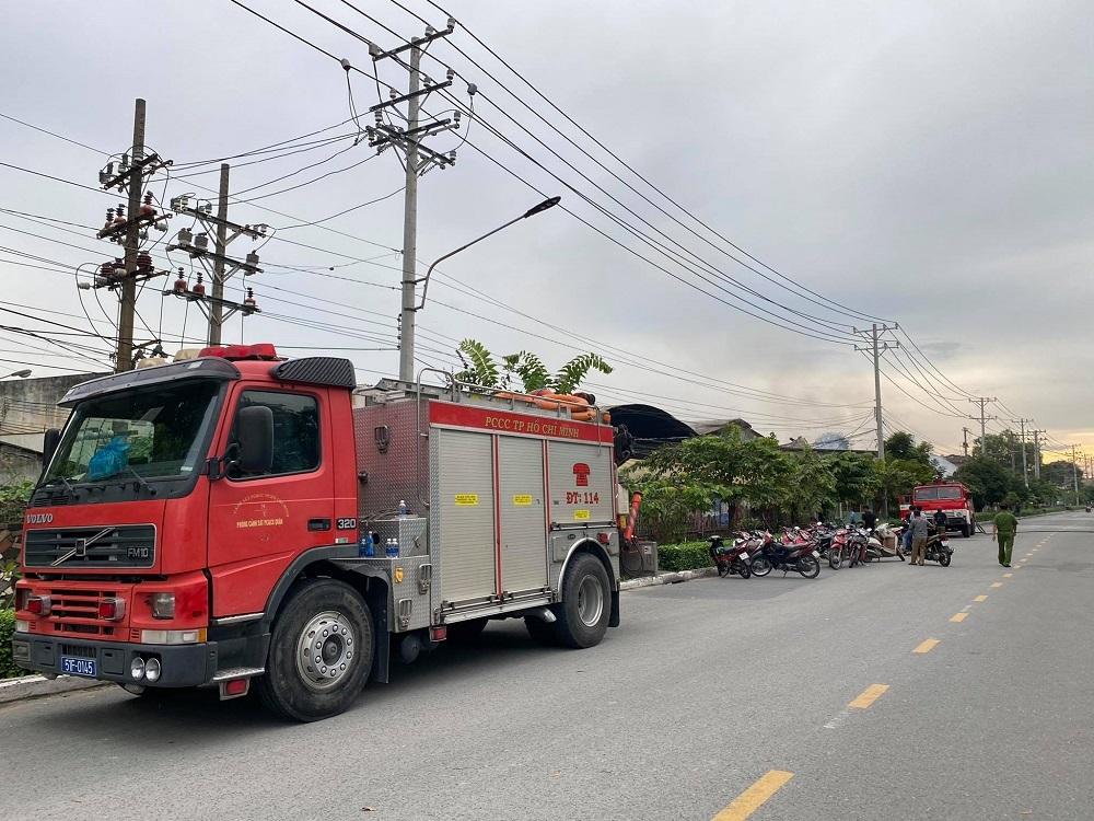 Cháy lớn trong khu công nghiệp ở Sài Gòn