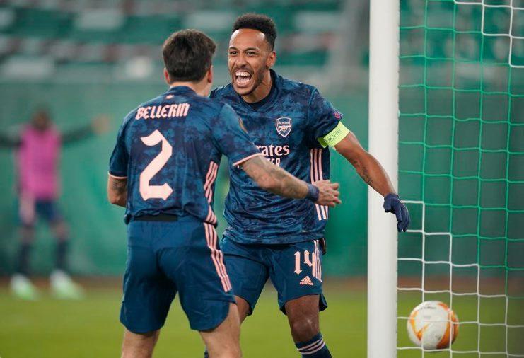 Luiz, Aubameyang giúp Arsenal thắng ngược tại Europa League