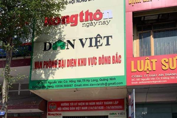 Bắt Trưởng văn phòng đại diện báo Dân Việt tại Quảng Ninh