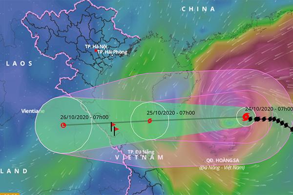 Bão số 8 giảm cấp, thẳng tiến Hà Tĩnh đến Quảng Trị
