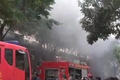Cháy tầng hầm chung cư Đại Thanh, hàng trăm người tháo chạy