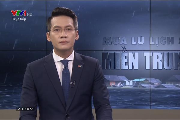 BTV Tuấn Dương xin lỗi, nghẹn ngào khi dẫn về mưa lũ trực tiếp VTV