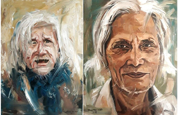 Portraits of Vietnam's well-known artists on display