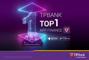 TPBank Mobile lên top 1 ứng dụng tài chính trên Google Play và Apple Store