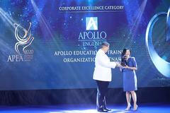 Apollo English được vinh danh Doanh nghiệp xuất sắc châu Á-Thái Bình Dương 2020