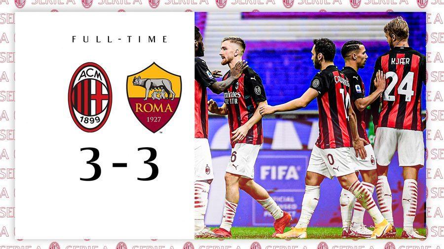 Ibrahimovic lập cú đúp, Milan cưa điểm siêu kịch tính với Roma