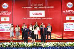 Vedan Việt Nam vào top 10 công ty uy tín ngành Thực phẩm - Đồ uống 2020