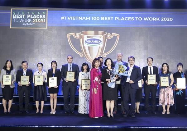 Vinamilk 3 năm liền dẫn đầu danh sách 100 nơi làm việc tốt nhất Việt Nam