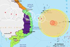 Bão số 9 có thể giật cấp 15 khi vào đất liền từ Đà Nẵng đến Phú Yên