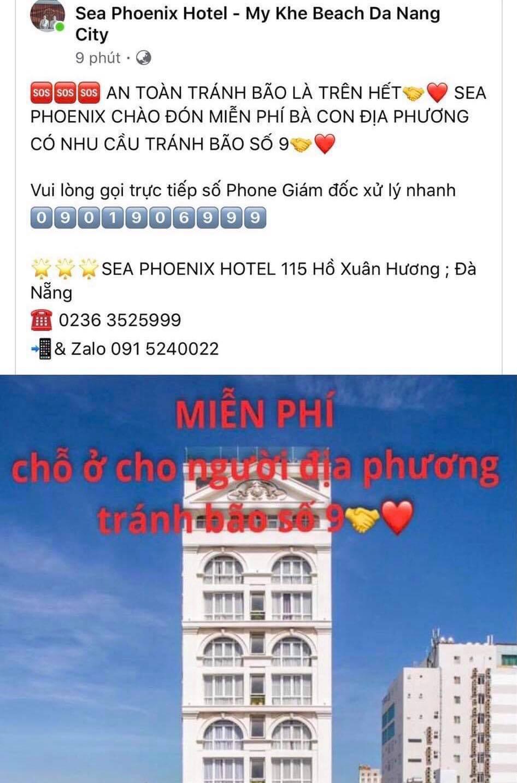 Khách sạn miễn phí chỗ ở cho người dân tránh bão số 9