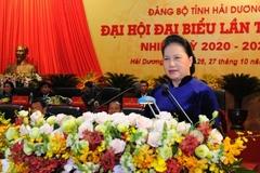 Chủ tịch Quốc hội Nguyễn Thị Kim Ngân mong Hải Dương đoàn kết và phát triển