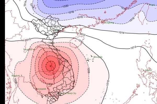 Dự báo thời tiết ngày 28/10: Bão đổ bộ, Bắc Bộ chuyển rét