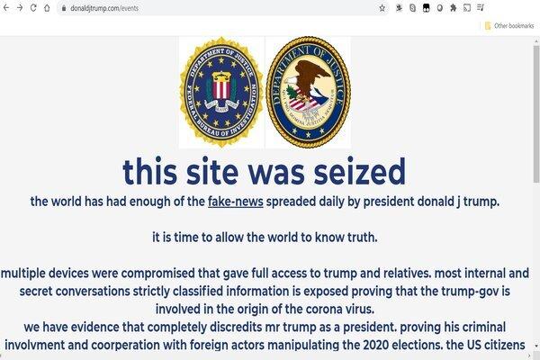 Trang web tái tranh cử của ông Trump bị tấn công