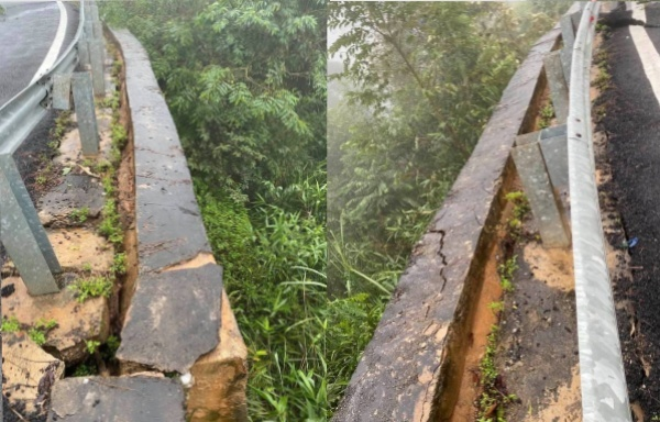 Quốc lộ nứt toác, sạt lở khiến giao thông tê liệt