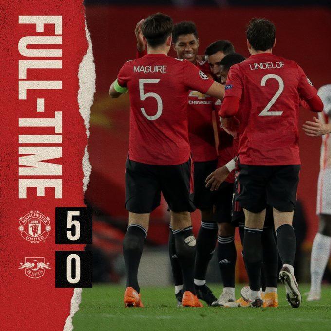 Xem video bàn thắng MU 5-0 RB Leipzig