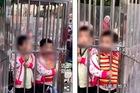 Sợ lạc, đôi vợ chồng Trung Quốc nhốt con vào lồng thép