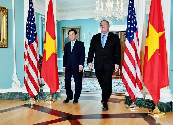 """Ngoại trưởng Mỹ Pompeo: """"Thật tuyệt vời khi trở lại Hà Nội"""""""