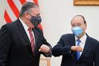 Hình ảnh Thủ tướng Nguyễn Xuân Phúc tiếp Ngoại trưởng Mỹ Pompeo