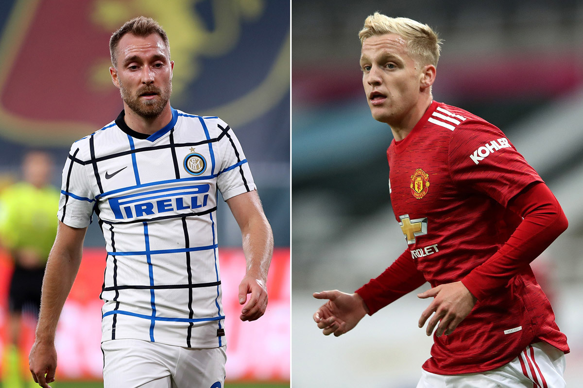 Inter và MU đổi Eriksen lấy Van de Beek