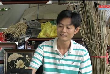 Vietnamese primary teacher makes unique handicraft from rice straw
