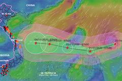 Siêu bão Goni diễn biến rất phức tạp khi vào Biển Đông