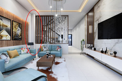 Góc nhọn và cột dầm phòng khách 'làm khổ' gia chủ, hoá giải bằng cách nào?